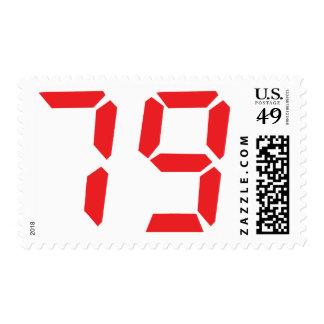 79 setenta y nueve números digitales del sello