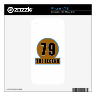 79 The Legend Birthday Designs iPhone 4S Decal