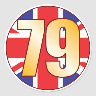 79 UK Gold Classic Round Sticker