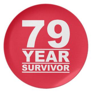 79 year survivor plate