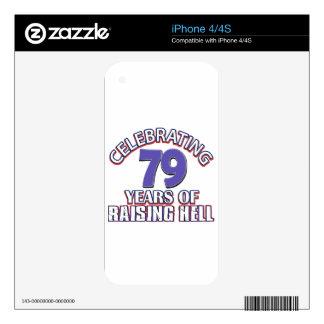 79 years of raising hell iPhone 4 skins