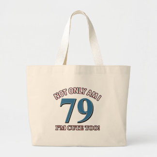 79 years Old birthday designs Canvas Bag