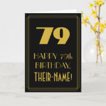 "[ Thumbnail: 79th Birthday – Art Deco Inspired Look ""79"" & Name Card ]"