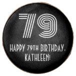 "[ Thumbnail: 79th Birthday - Art Deco Inspired Look ""79"", Name ]"