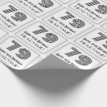 """[ Thumbnail: 79th Birthday: Art Deco Inspired Style """"79"""" + Name Wrapping Paper ]"""