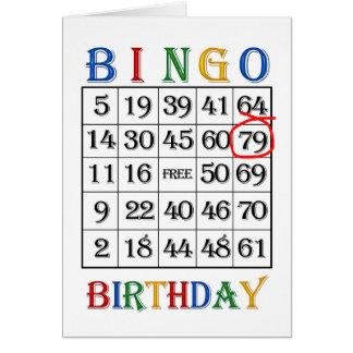 79th Birthday Bingo card
