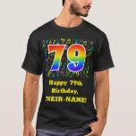 [ Thumbnail: 79th Birthday: Colorful Music Symbols, Rainbow 79 T-Shirt ]