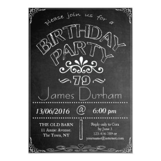 79th Chalkboard Birthday Celebration Invitation