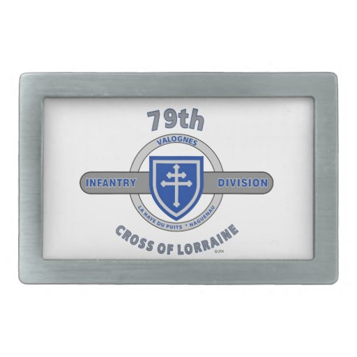 "79TH INFANTRY DIVISION ""CROSS OF LORRAINE"" RECTANGULAR BELT BUCKLE"