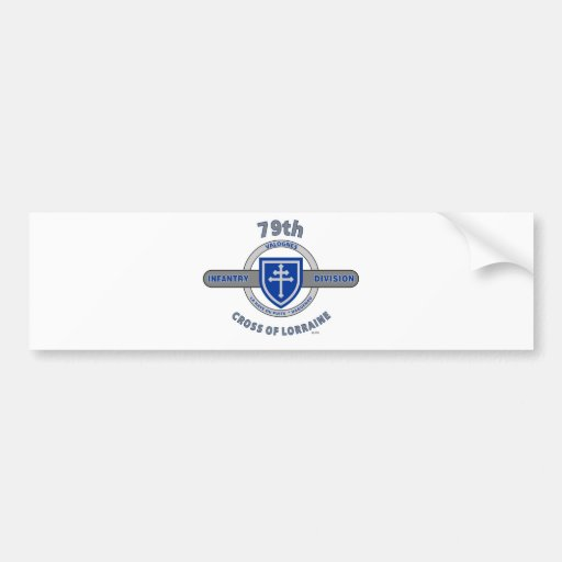 "79TH INFANTRY DIVISION ""CROSS OF LORRAINE"" BUMPER STICKERS"