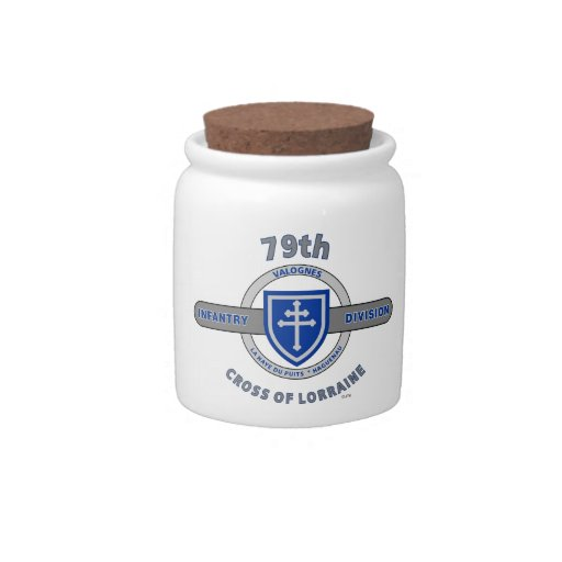 "79TH INFANTRY DIVISION ""CROSS OF LORRAINE"" CANDY JAR"