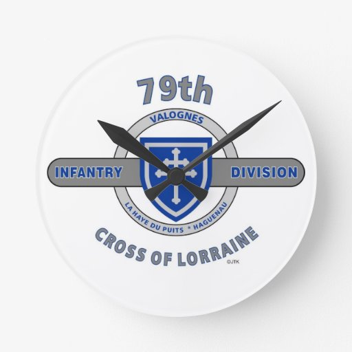 "79TH INFANTRY DIVISION ""CROSS OF LORRAINE"" WALL CLOCKS"