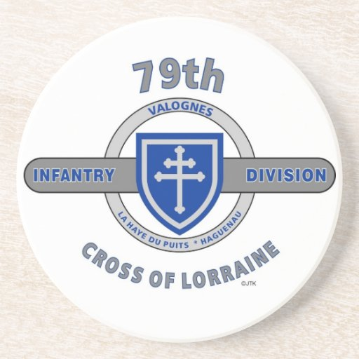 "79TH INFANTRY DIVISION ""CROSS OF LORRAINE"" DRINK COASTERS"
