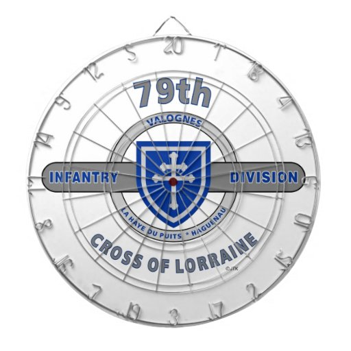 "79TH INFANTRY DIVISION ""CROSS OF LORRAINE"" DARTBOARD"