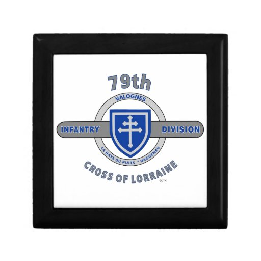 "79TH INFANTRY DIVISION ""CROSS OF LORRAINE"" KEEPSAKE BOX"