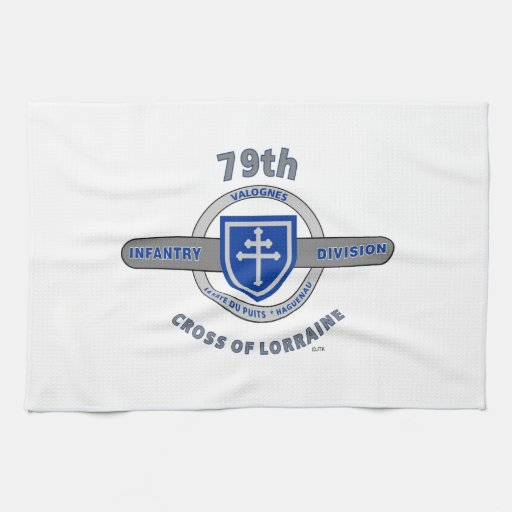 "79TH INFANTRY DIVISION ""CROSS OF LORRAINE"" TOWEL"