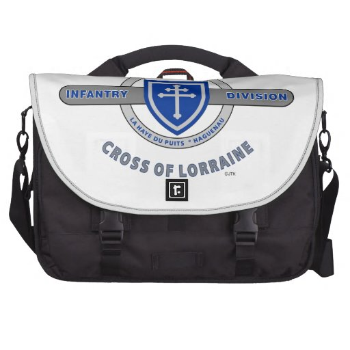 "79TH INFANTRY DIVISION ""CROSS OF LORRAINE"" LAPTOP COMMUTER BAG"