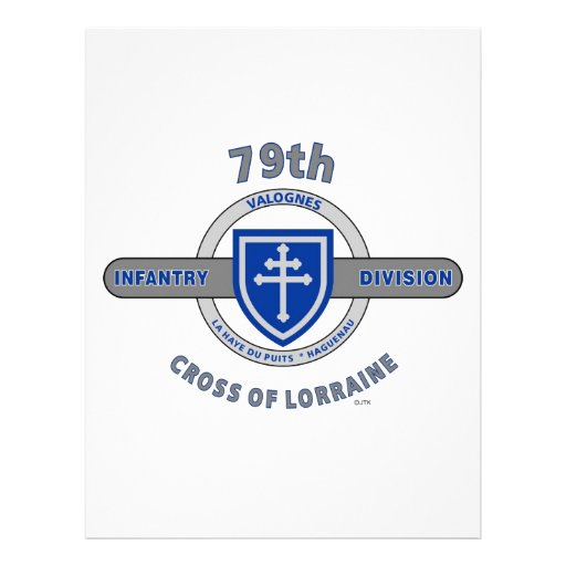 "79TH INFANTRY DIVISION ""CROSS OF LORRAINE"" PERSONALIZED LETTERHEAD"