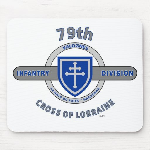 "79TH INFANTRY DIVISION ""CROSS OF LORRAINE"" MOUSEPAD"