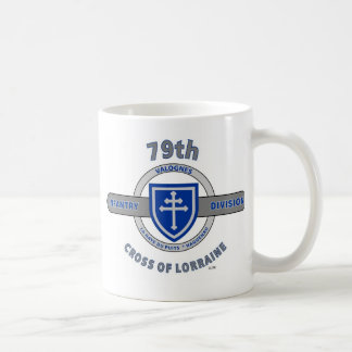 """79TH INFANTRY DIVISION """"CROSS OF LORRAINE"""" COFFEE MUGS"""