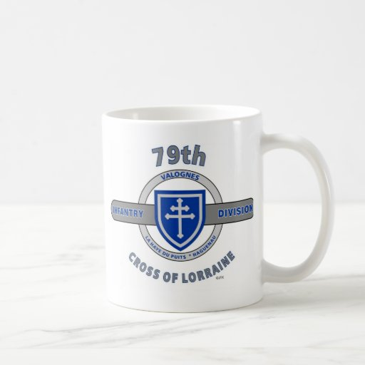 "79TH INFANTRY DIVISION ""CROSS OF LORRAINE"" COFFEE MUGS"