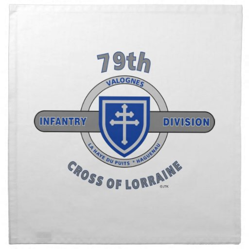 "79TH INFANTRY DIVISION ""CROSS OF LORRAINE"" NAPKIN"