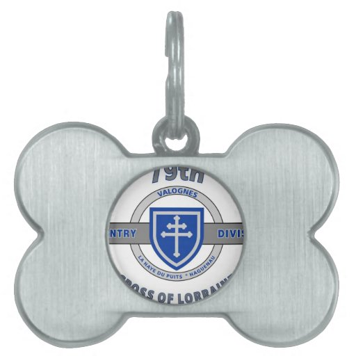 "79TH INFANTRY DIVISION ""CROSS OF LORRAINE"" PET NAME TAG"