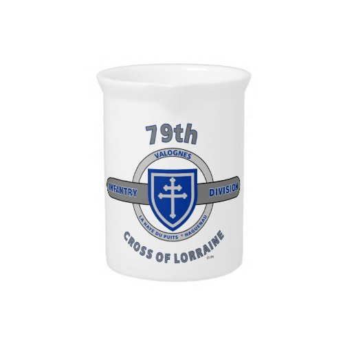 "79TH INFANTRY DIVISION ""CROSS OF LORRAINE"" BEVERAGE PITCHERS"