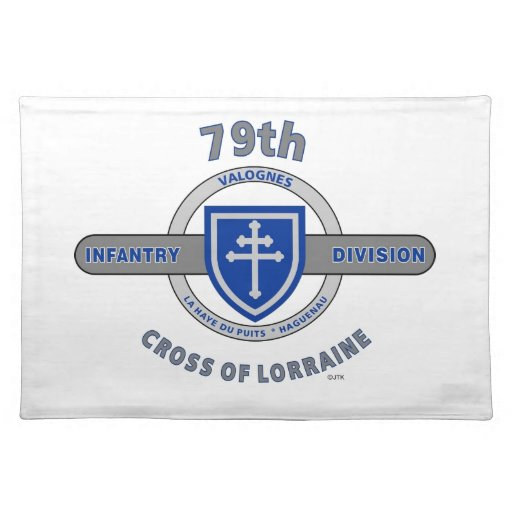 "79TH INFANTRY DIVISION ""CROSS OF LORRAINE"" PLACE MATS"