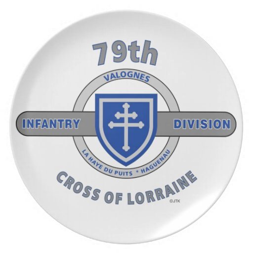 "79TH INFANTRY DIVISION ""CROSS OF LORRAINE"" DINNER PLATE"