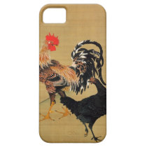7. 大鶏雌雄図, 若冲 Couple of Chickens, Jakuchū iPhone SE/5/5s Case