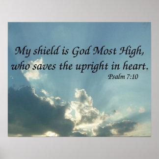 7:10 del salmo póster