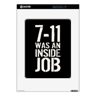 7-11 trabajo interior iPad skins