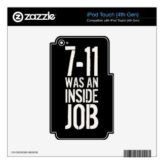 7-11 trabajo interior iPod touch 4G calcomanía