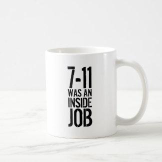 7-11 trabajo interior taza de café