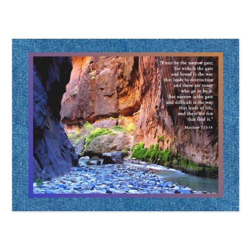 7:13 de Matthew - 14 tarjetas estrechas de la puer Tarjetas Postales