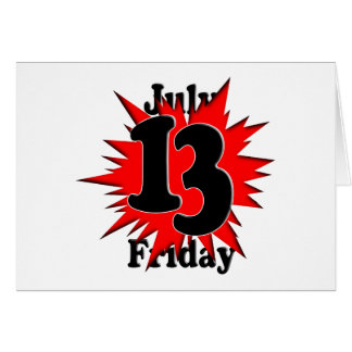 7-13 Friday the 13th Card