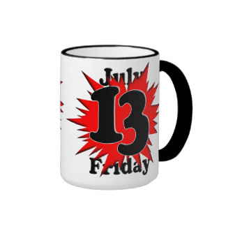 7-13 viernes el décimotercero taza de café