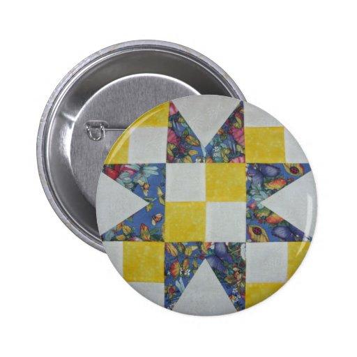 7-18BlueStar.png Pinback Button