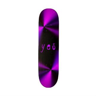 7 1 4 purple black metálico del pequeño monopatín
