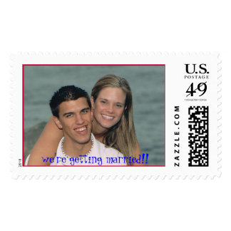 7-26-2006-56, we're getting married!! postage stamps