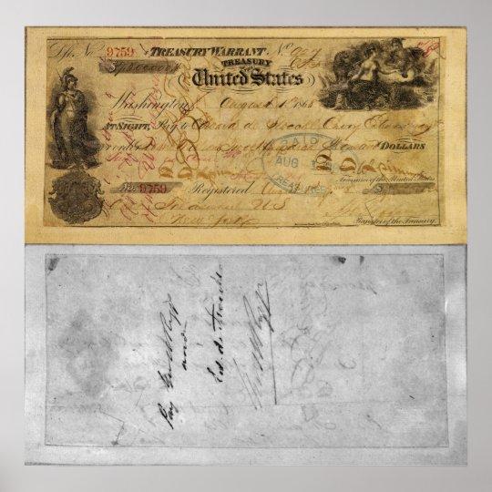 $7.2 Million Treasury Warrant that Bought Alaska Poster