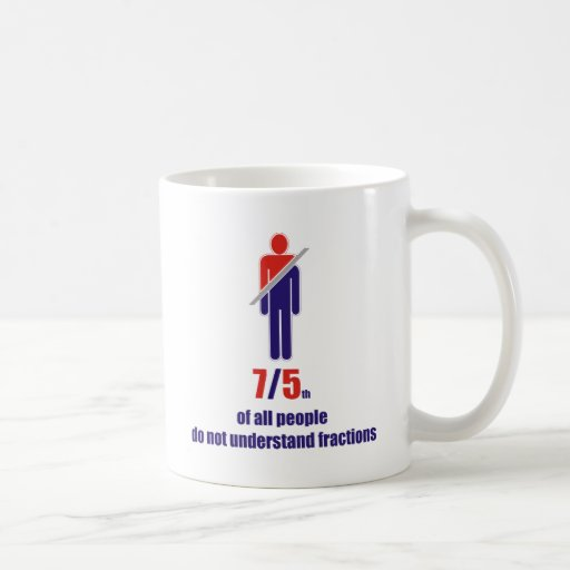 7/5th of all people do not understand fractions mug