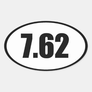7,62 AK47 .308 PEGATINA OVALADA