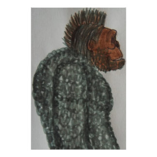 7.6 ft/229 cm tall Yeti ape man Poster