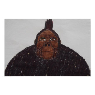7.6 ft tall yeti ape giant man posters