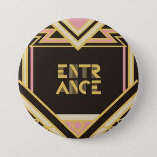7.6cm Can batch [Art Deco] Pinback Button