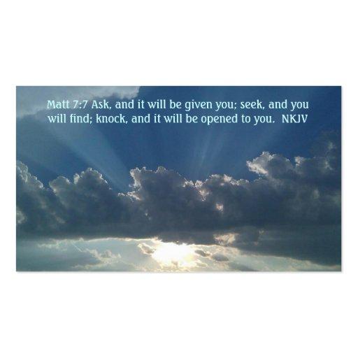 7:7 de Matt de la tarjeta del rezo Tarjetas De Visita