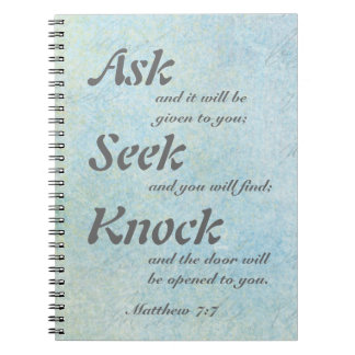 7:7 de Matthew, cuaderno