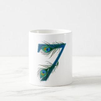 7 / 7th / number 7 / anniversary / 7th birthday coffee mug